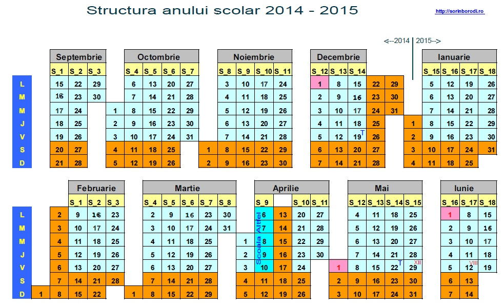 Calendar An Scolar 2015 2016 | Search Results | Calendar 2015